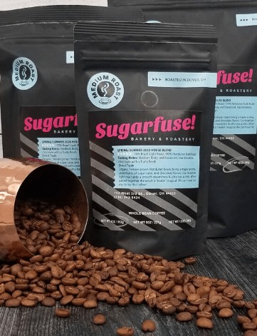 Sugarfuse roasted coffee bean bags